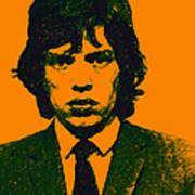 Mugshot Mick Jagger P0 Print by Wingsdomain Art and Photography