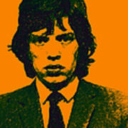 Mugshot Mick Jagger P0 Art Print