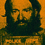 Mugshot Willie Nelson P0 Art Print by Wingsdomain Art and Photography