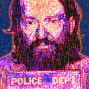 Mugshot Willie Nelson Painterly 20130328 Art Print by Wingsdomain Art and Photography