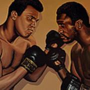 Muhammad Ali And Joe Frazier Art Print