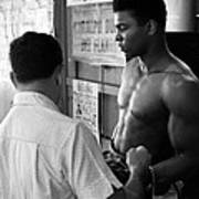 Muhammad Ali Coming Out Of Dressing Room Art Print