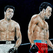Muhammad Ali Vs George Foreman Art Print by Jim Fitzpatrick