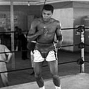Muhammad Ali Warming Up Art Print by Retro Images Archive