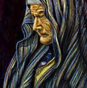 Mujer Mayor En Rebozo Art Print