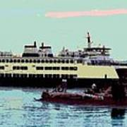 Mukilteo Clinton Ferry Panel 3 Of 3 Art Print