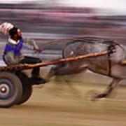 Mule Cart Race Art Print