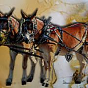 Mules In Full Dress Art Print