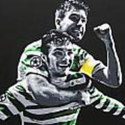 Mulgrew And Watt - Glasgow Celtic Fc Art Print