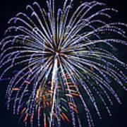 4th Of July Fireworks 12 Art Print by Howard Tenke
