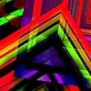 Multicolor Geometric Artwork Art Print by Mario Perez