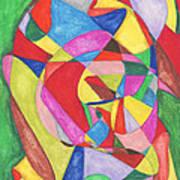 Multicolored Maze Art Print by Ellen Howell