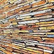 Multicoloured Slate Wall Art Print