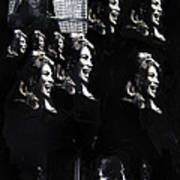 Multiple Angie Dickinson's Collage Young Billy Young Set Old Tucson Arizona 1968-2013 Art Print