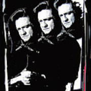 Multiple Johnny Cash Sitting Old Tucson Arizona 1971-2008 Art Print