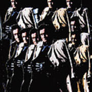 Multiple Johnny Cash's In Trench Coat 1 Collage Old Tucson Arizona 1971-2008 Art Print
