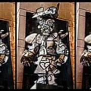 Mummer Man Triptych Art Print