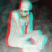 Mummy Dearest - Use Red-cyan Filtered 3d Glasses Art Print