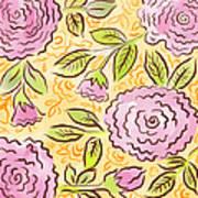 Mums And Roses Art Print
