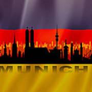 Munich City Art Print