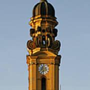 Munich Theatine Church Of St. Cajetan - Theatinerkirche St Kajetan Art Print by Christine Till