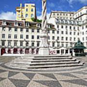 Municipal Square In Lisbon Art Print