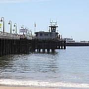 Municipal Wharf At The Santa Cruz Beach Boardwalk California 5d23767 Art Print