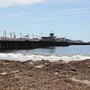 Municipal Wharf At The Santa Cruz Beach Boardwalk California 5d23769 Art Print by Wingsdomain Art and Photography