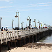 Municipal Wharf At The Santa Cruz Beach Boardwalk California 5d23773 Art Print by Wingsdomain Art and Photography