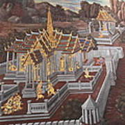 Mural - Grand Palace In Bangkok Thailand - 01135 Art Print by DC Photographer