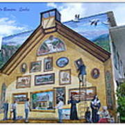 Mural In Beaupre Quebec Art Print