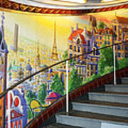 Mural In The Paris Metro Photograph By Kathy Yates