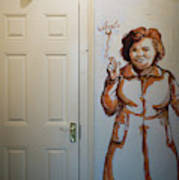 Mural Of Mccourts Mother Angela Art Print