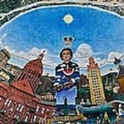 Mural Of Stephen F Austin Off Guadalupe Art Print