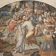 Mural Painting Abbey Fontevraud Art Print