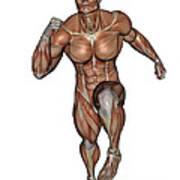 Muscular Man Running Art Print
