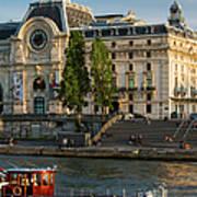Musee D'orsay Along River Seine Art Print