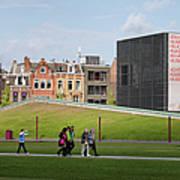Museumplein Lawn In Amsterdam Art Print