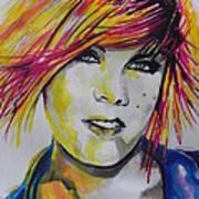 Music Artist..pink Art Print