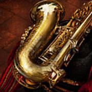 Music - Brass - Saxophone  Art Print by Mike Savad