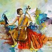 Music Colors And Beauty Art Print