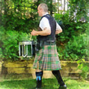 Music - Drummer In Pipe Band Art Print