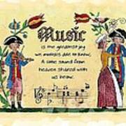 Music Fraktur Art Print