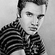 Music Legends Elvis Art Print by Andrew Read