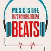 Music- Life Quotes Poster Art Print