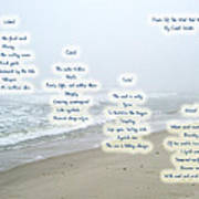 Music Of The Wind And Waves Poem On Ocean Background Art Print
