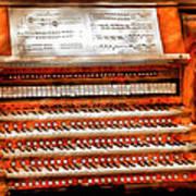Music - Organist - The Pipe Organ Art Print by Mike Savad