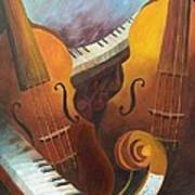 Music Relief Art Print by Paula Marsh