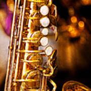Music - Sax - Sweet Jazz  Art Print by Mike Savad