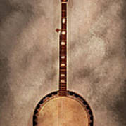 Music - String - Banjo  Art Print by Mike Savad